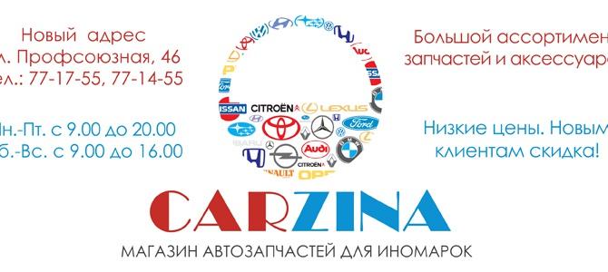 CARZINA, автозапчасти для иномарок